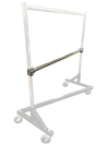 Add-On Hangrail With Clamps For Double  Or Triple Hanging For Z-Rack - Chrome - Display Fixture Warehouse Retail