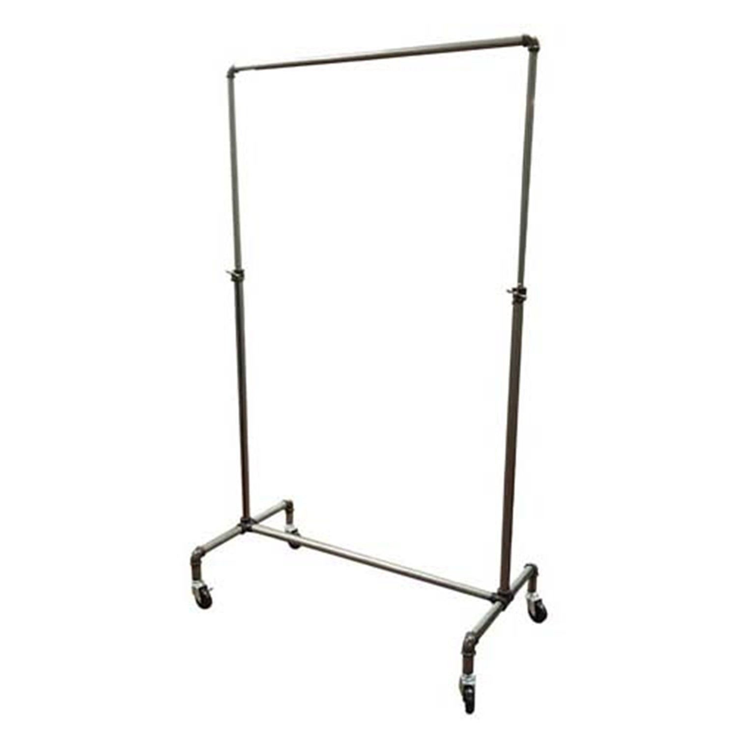"Pipeline Ballet Bar Rack 42"" L X44 To 77""H - Display Fixture Warehouse Retail"