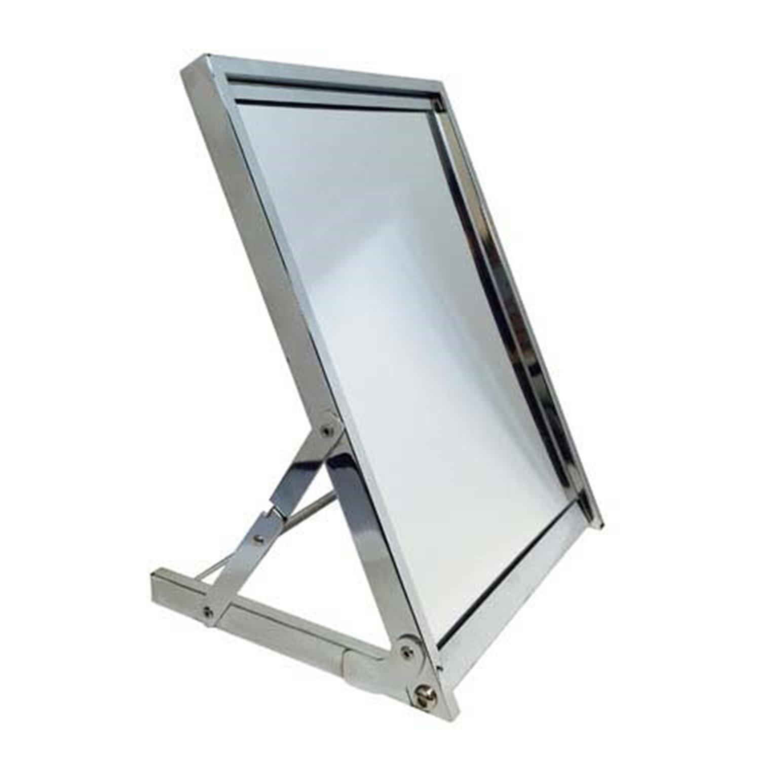 "13"" X 17"" Rectangular Folding Floor Mirror Kd - Display Fixture Warehouse Retail"