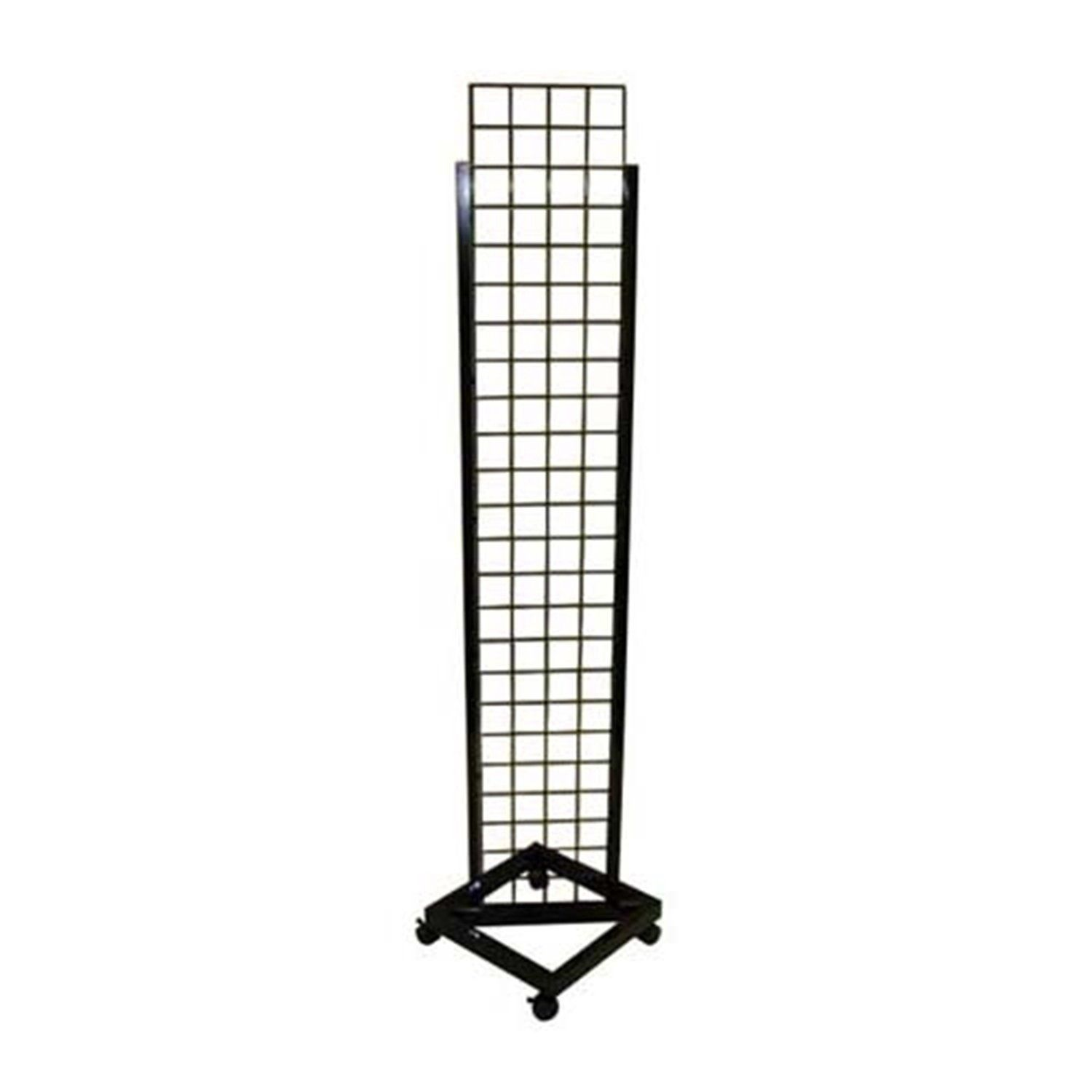 "14"" W X 72"" H Grid Tower With Casters - Display Fixture Warehouse Retail"