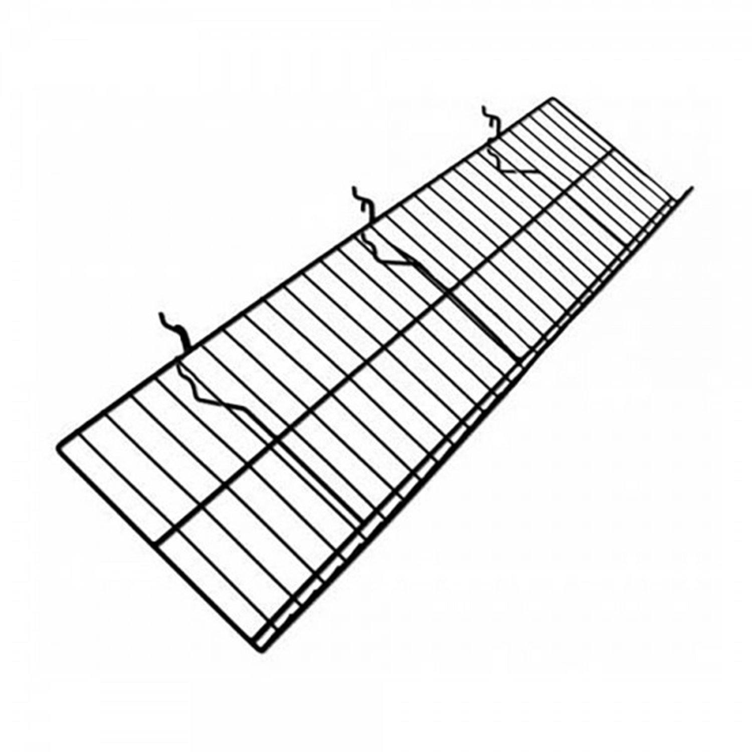 "10"" D x 46"" L WIRE SHELF WITH 2"" LIP POP DISPLAY - Display Fixture Warehouse Retail"