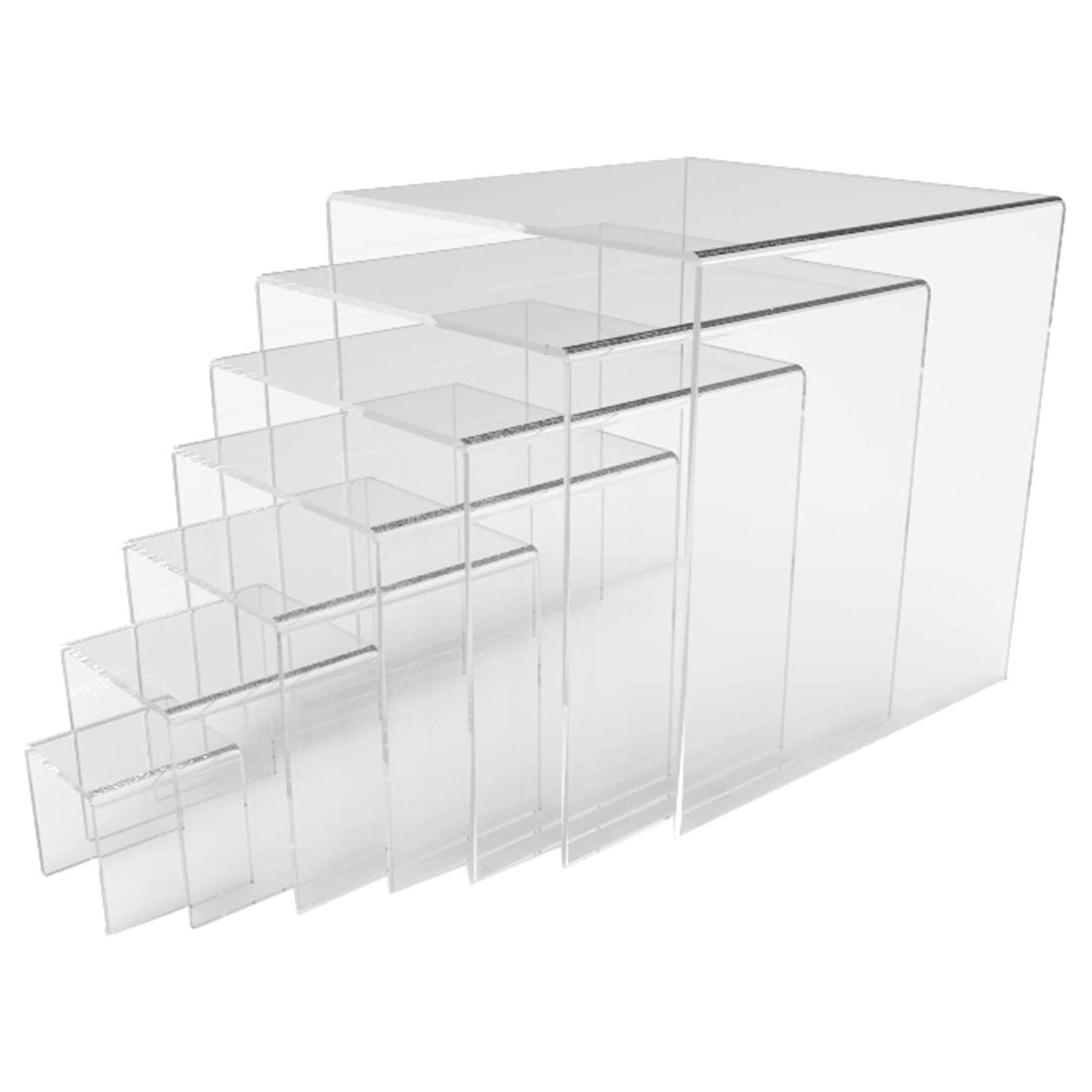 """U"" RISERS (SET OF 6): 4"" W TO 7"" W - Display Fixture Warehouse Retail"
