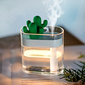 Cactus USB Air Humidifier & Essential Oil Diffuser