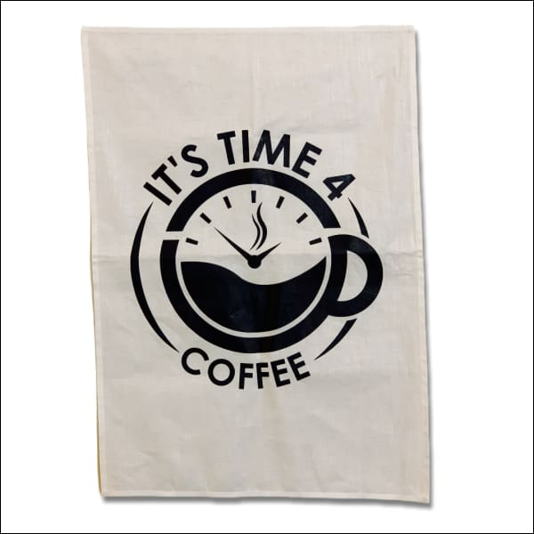 It's Time 4 Coffee Tea Towel - Tea Towel