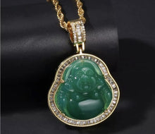 Load image into Gallery viewer, Jade Buddha Necklace
