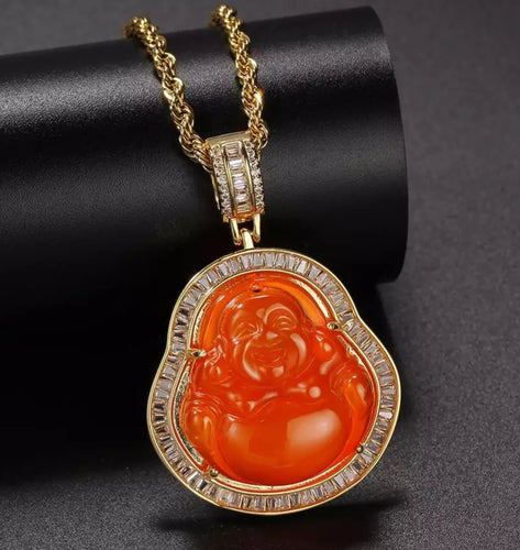 Orange Buddha Necklace
