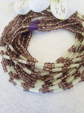 Load image into Gallery viewer, Dark Purple Luster 3 Strand Tie-on 42""