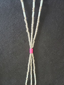 Clear 3 Strand Tie-on 37""