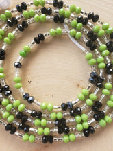 Load image into Gallery viewer, Lime Green + Grey Crystal 50""