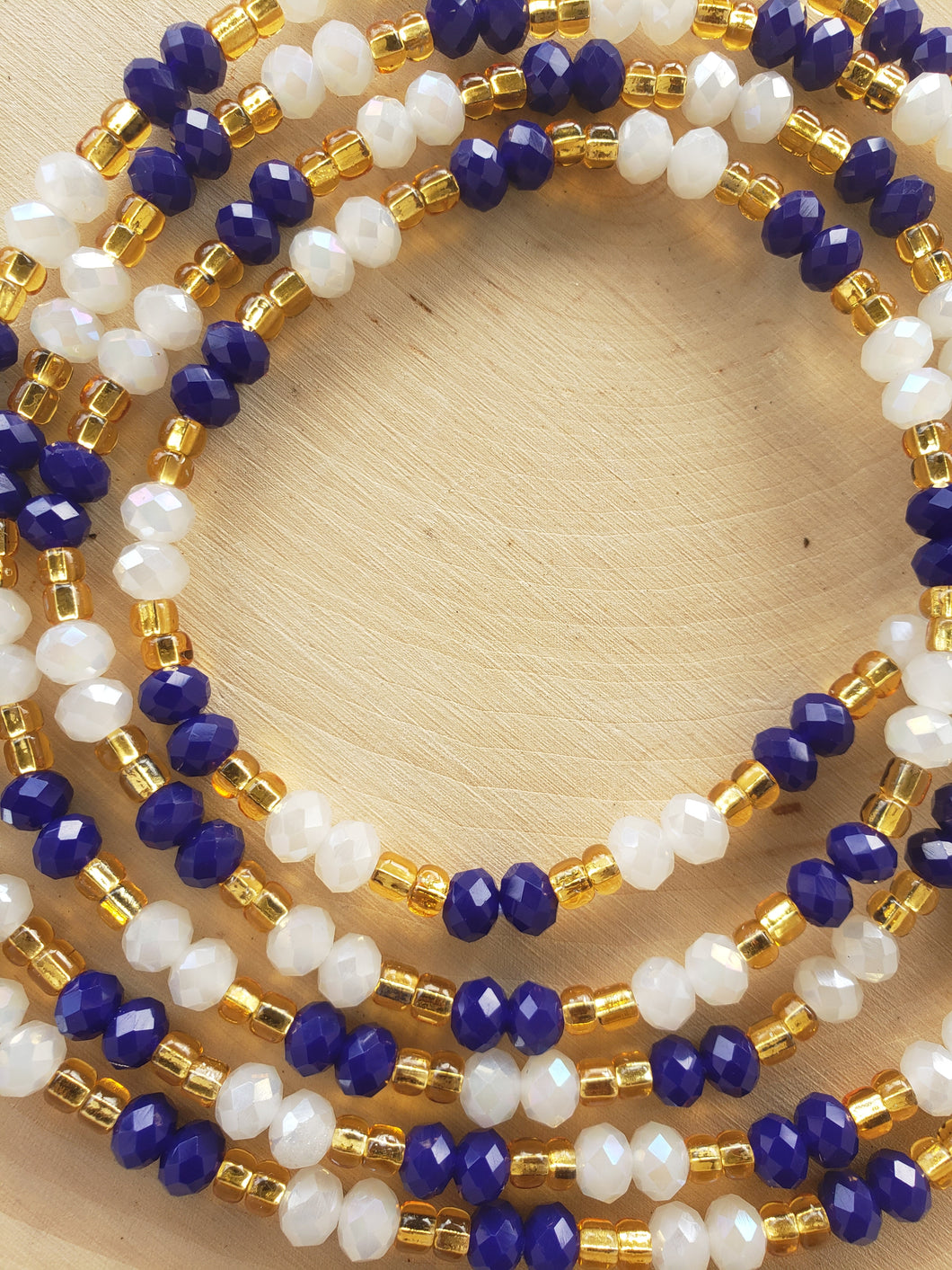 Blue + Gold + Crystal White 50