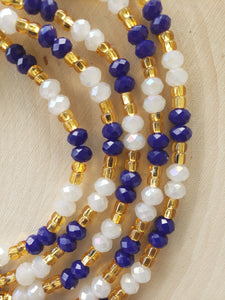 Blue + Gold + Crystal White 50""