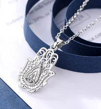 Load image into Gallery viewer, Hamsa Hand Silver
