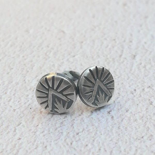 Triangle Burst Stud Earrings