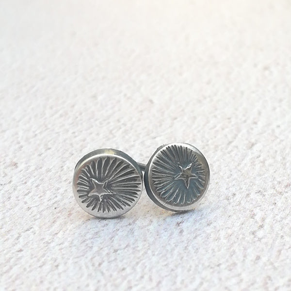 Star Burst Stud Earrings