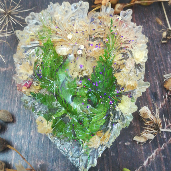 Green Man Heart Decoration