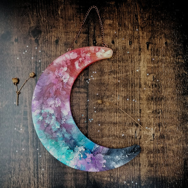 Large Crescent Moon Wall Hanging