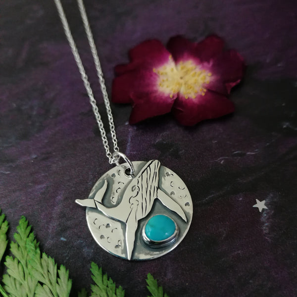 Whale and Turquoise Necklace