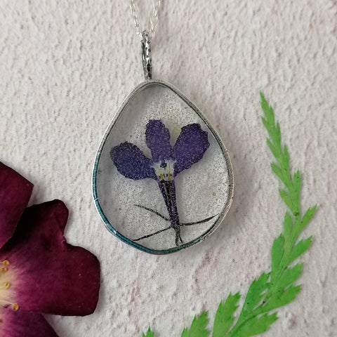 Purple Lobelia Necklace
