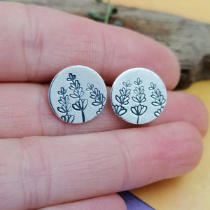 Lavender Stud Earrings