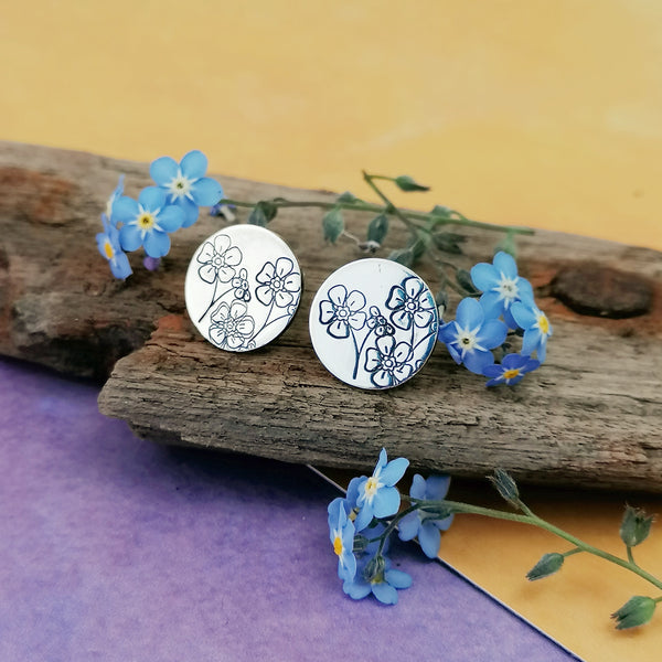 Forget-me-not Stud Earrings