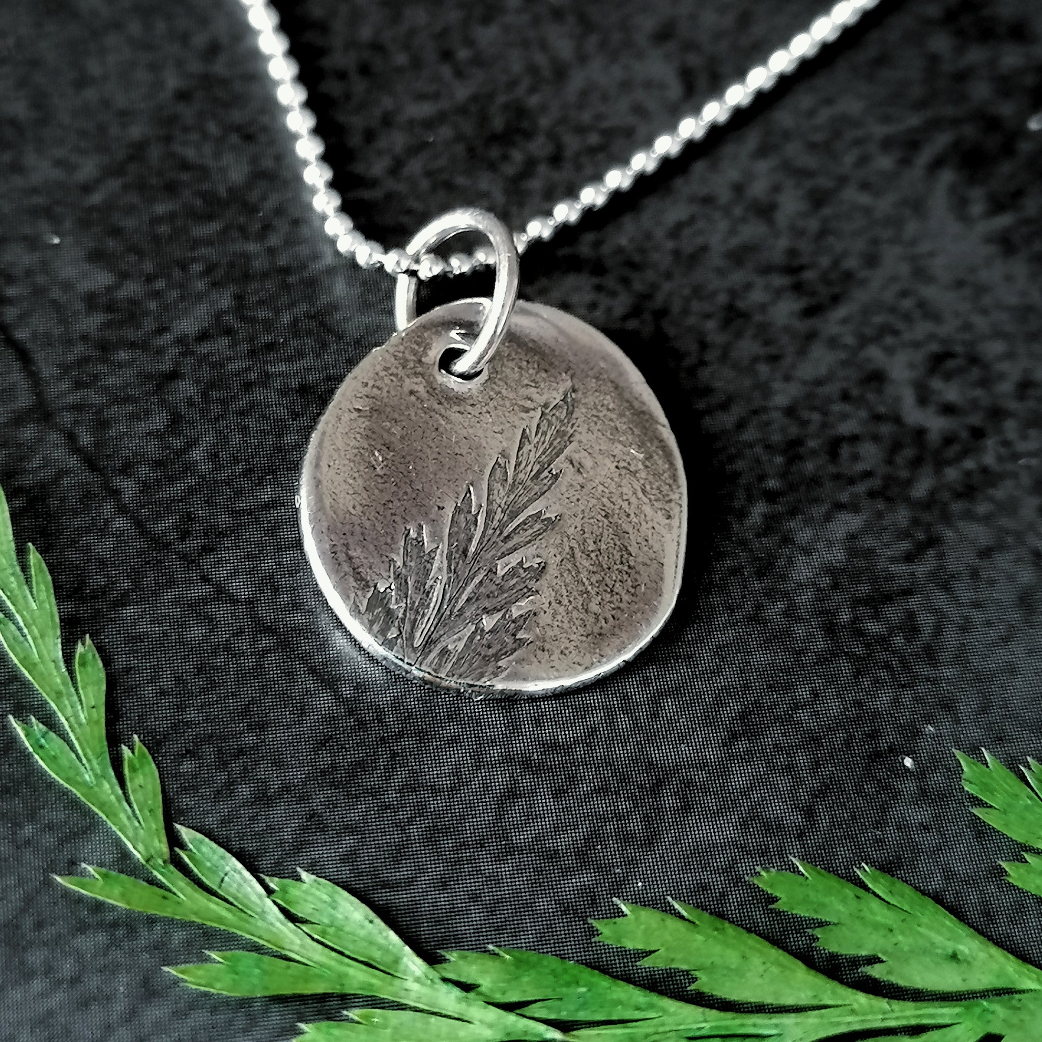 Rustic Fern Necklace