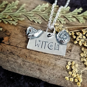 Witch and Witches Hat Necklace