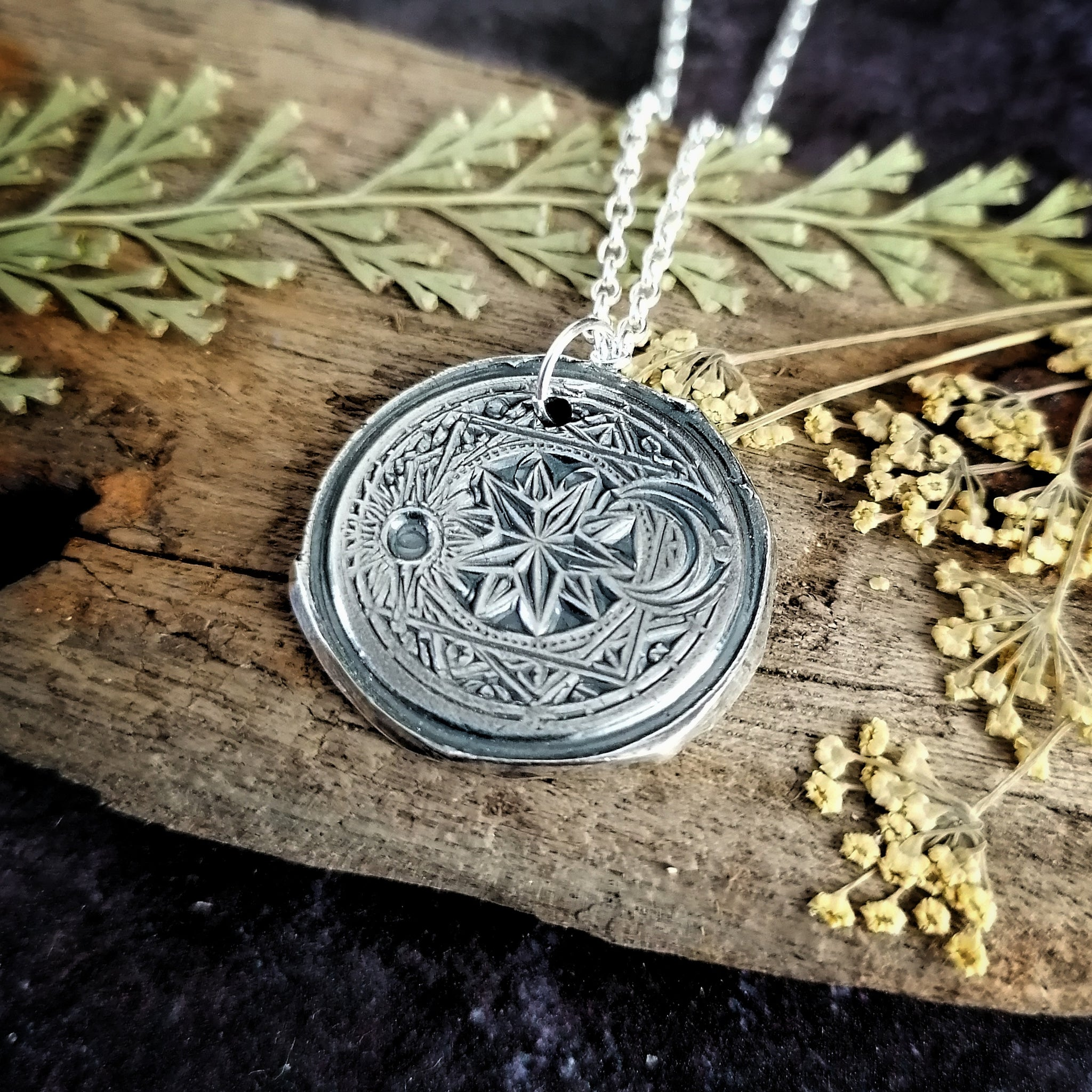 Sun and Moon Celestial Necklace