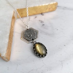 Labradorite Dangle Necklace
