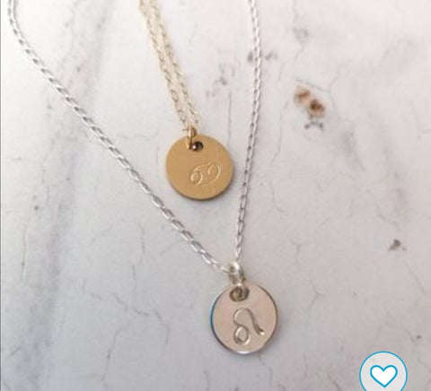 Personalised Star Sign Symbol Necklace