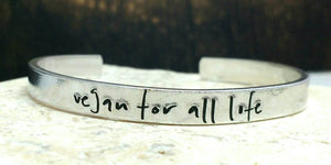 Vegan For All Life Bracelet