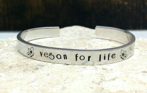 Vegan For Life Butterfly Bracelet