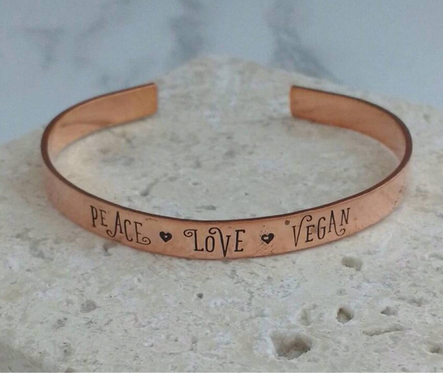 Peace Love Vegan Bracelet