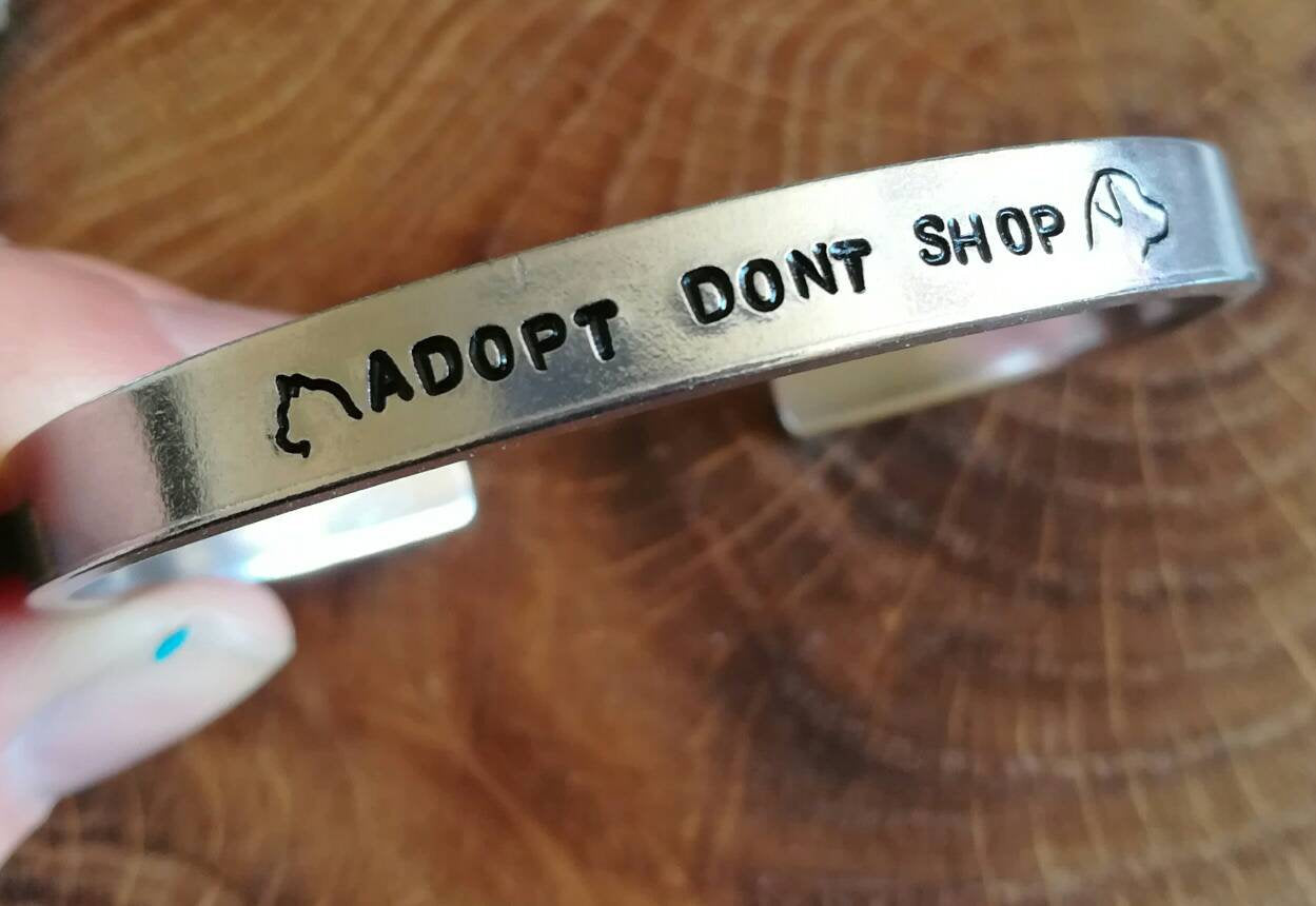 Adopt don't shop vegan bracelet
