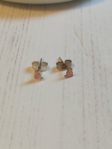 Copper Chicken Stud Earrings