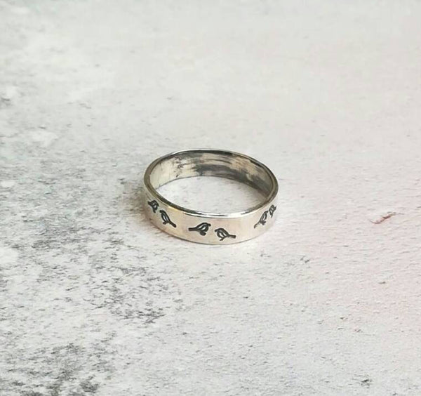 Handmade bird ring