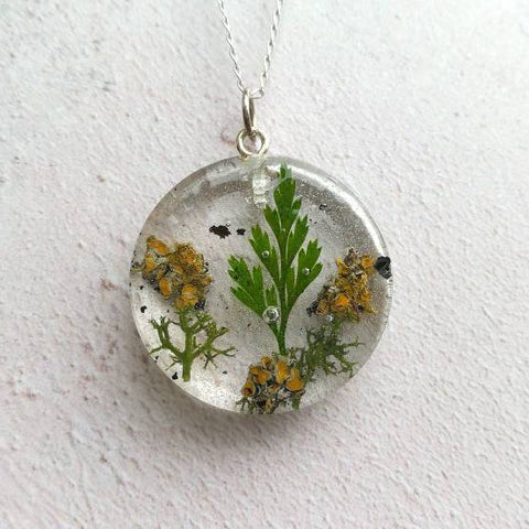 Leaf Moss Lichen Necklace