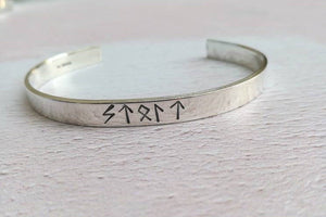 Personalised Viking Rune Cuff Bracelet