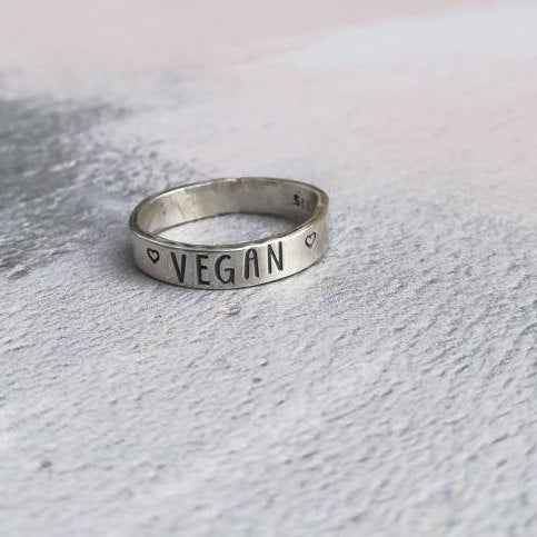 Vegan Sterling Silver Ring