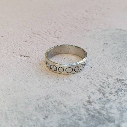 Moon Phases Sterling Silver Ring