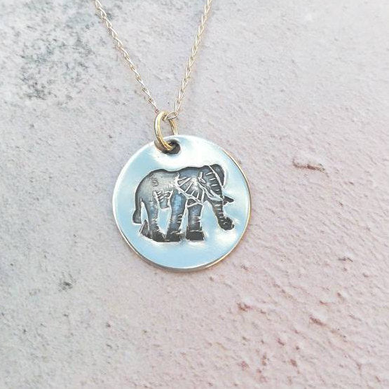 Elephant Sterling Silver Necklace