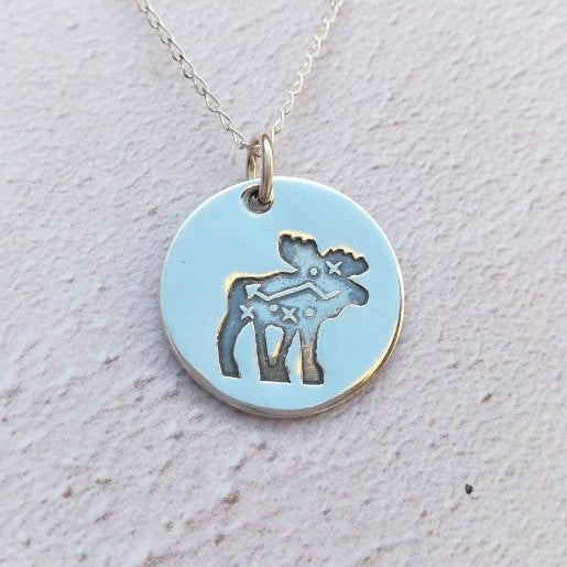 Moose Sterling Silver Necklace