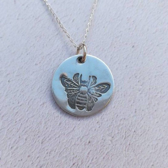 Bee Sterling Silver Necklace