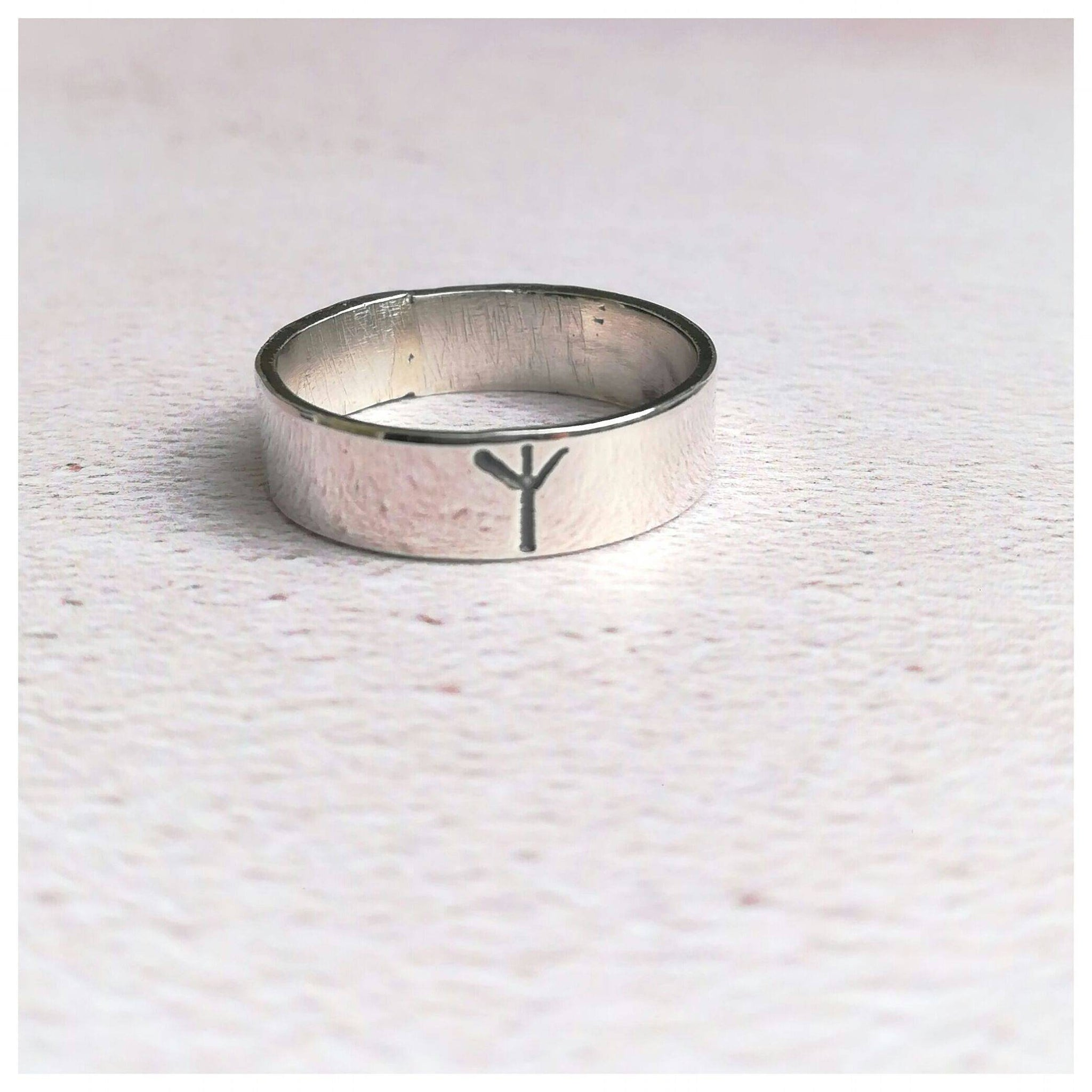 Viking Rune Personalised Initial Ring