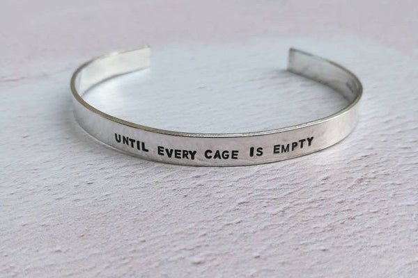 Until Every Cage Is Empty Vegan Bracelet