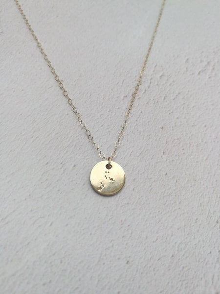 Personalised Zodiac Constellation Necklace