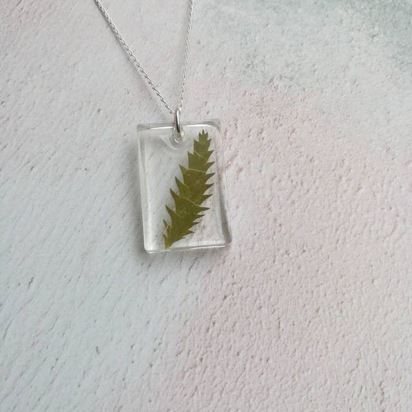 Dried Leaf Necklace