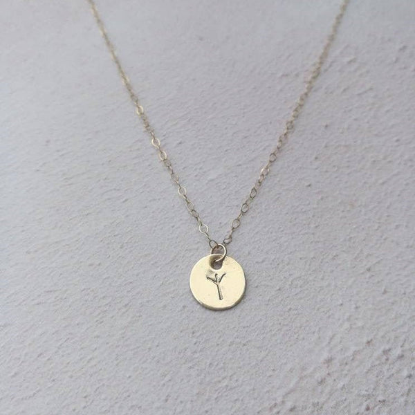 Personalised Viking Rune Initial Necklace