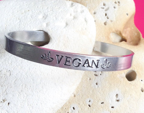 Vegan Bird Motto Bracelet