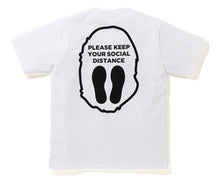 Load image into Gallery viewer, bape social distance apehead tee (white)