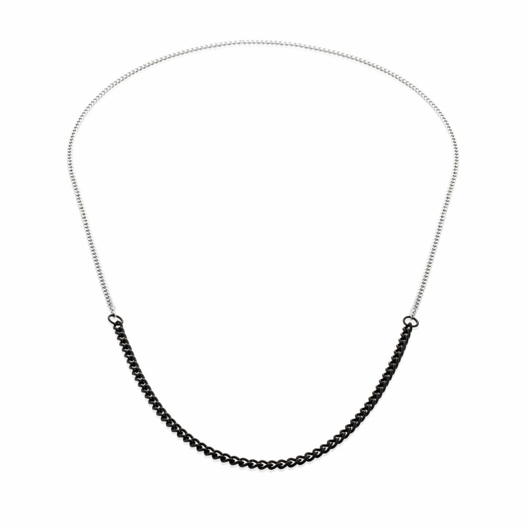 vitaly binary necklace (ss/matte blk)